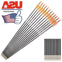 12pc  Fiberglass Arrows Archery Target Practice   arrow hunt