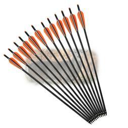 12x 20inch Carbon Crossbow Bolts Arrow 125 Grain Screw Tips