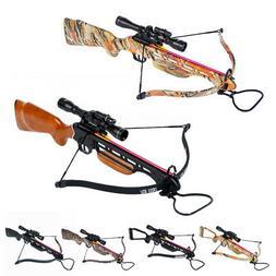 150 lb Black / Wood / Camo Hunting Crossbow Bow +4x20 Scope