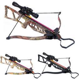 180 lb Black / Camouflage Camo Hunting Crossbow Bow +4x20 Sc