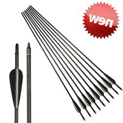 "26""-30"" Archery Carbon Arrows Spine400 Shaft Target Hunting"