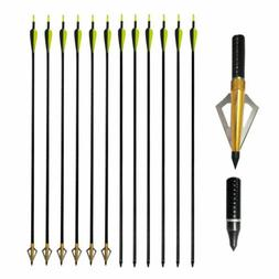 "32"" Fiberglass Arrows Archery SP500 Hunting Target Practice"