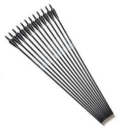 """6/12/24pcs 30"""" 7.8mm Carbon Arrows OD Shaft Archery Fit Spor"""