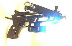 60 lbs MANTIS Fishing pistol crossbow w/ LASER-LIGHT combo &