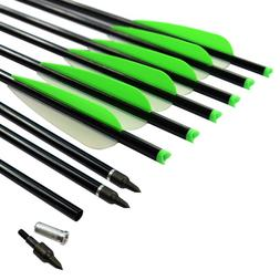 6X 20 inch Crossbow Bolts Aluminum Arrows 2219# Archery Targ