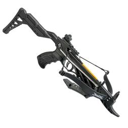 80lb Self Cocking Pistol CrossBow With Forearm Grip Black Br