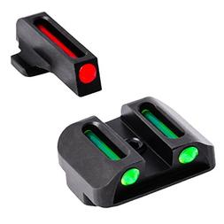 TRUGLO Fiber-Optic Front and Rear Handgun Sights for S&W M&P