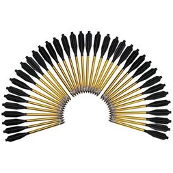 Aluminum Arrows For 50 to 80 lbs Cross Bows Metal Point Head