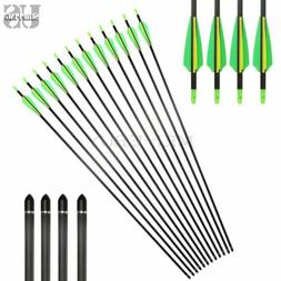 Archery 32'' Carbon Arrows Target Practice Hunting For Compo