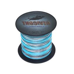 GEVICONT Blue Camo Test PE Braided Fishing Line 100M 300M 50