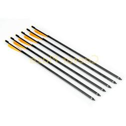 "6 PCS 20"" Carbon Crossbow Bolts Arrows Hunting Archery Compo"
