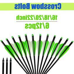 Crossbow Bolts Aluminum Shaft Arrows Bow Hunting Archery 6/1