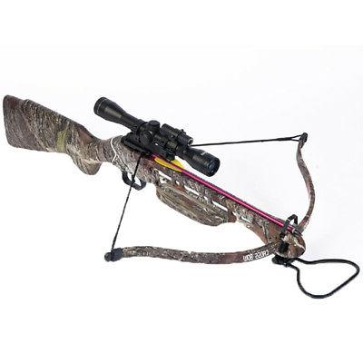 150 lb Camouflage Crossbow Bow w/ 4x20 Scope + 7 Bolts / Arr