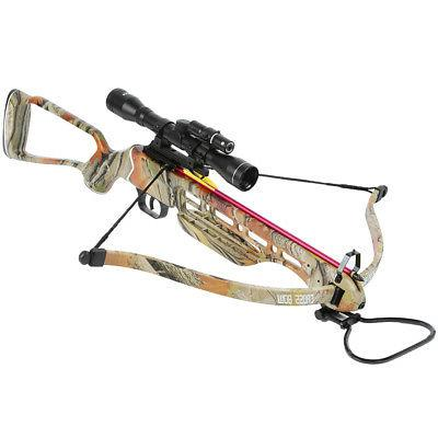 150 lb Camouflage Hunting Crossbow Bow w/ 4x20 Scope + 7 Bol