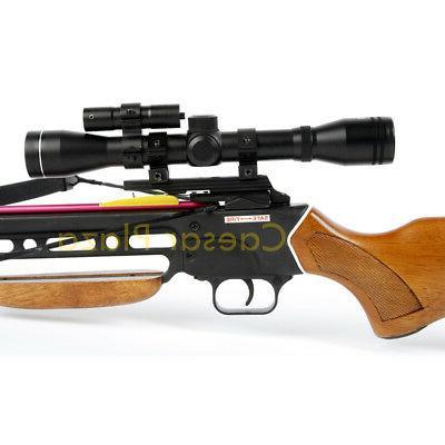 150 lb Wood Crossbow Archery Scope / Arrows 180 80