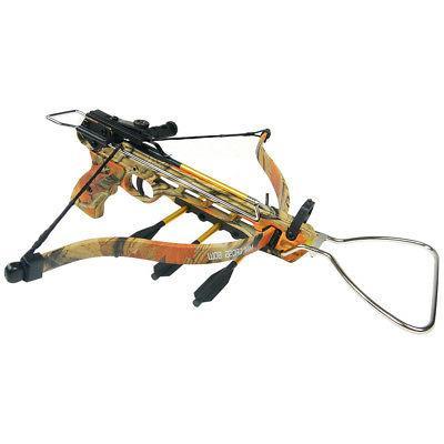 80 lb Aluminum Camo Pistol Hunting Crossbow Bow +15 Arrows +