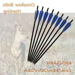 New 16-22 inch Crossbow Bolts Carbon Arrows Archery Bow Outd