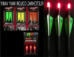 NEW 3 VICTORY CROSSBOW ARROWS / BOLTS with 3 RED LIGHTED NOC