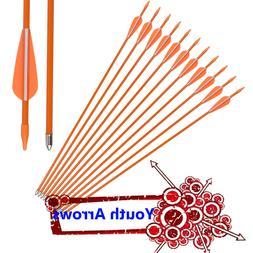 New Fiberglass Arrows Youth Archery Compound Recurve Bow Pra