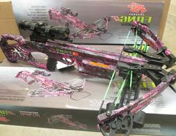 NEW WOMENS PSE Fang LT Pink Muddy Girl Moonshine Camo Crossb